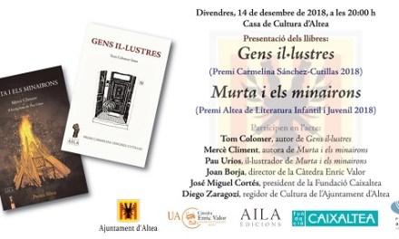 Clausura de honor para Llibres a la Tardor con la presentación de las obras ganadoras de Premis Altea 2018