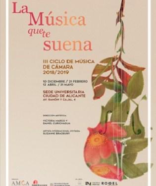 """Inicio del ciclo """"La Música que te suena"""" en la Sede Universitaria Ciudad de Alicante"""