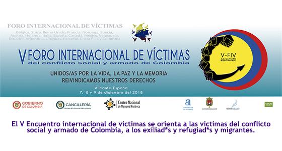 Más de 100 víctimas del conflicto armado colombiano se reúnen en Alicante
