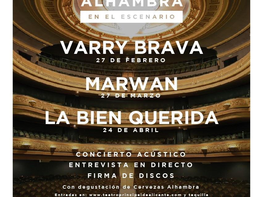 """El ciclo de conciertos """"Momentos Alhambra en el Escenario"""" de Cervezas Alhambra continúa su programación en 2019 en el Teatro Principal de Alicante"""