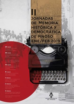 La semana próxima, Pinoso acogerá las II Jornadas de Memoria Histórica y Democrática