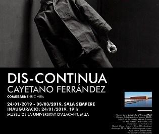 """L'obra de l'alacantí Cayetano Ferrández arriba al Museu de la Universitat d'Alacant amb """"Dis-Contínua"""""""