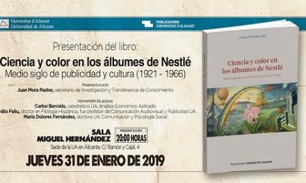 La Sede de Alicante acoge hoy jueves la presentación del libro «Ciencia y color en los álbumes de Nestlé»