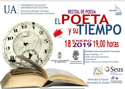 La Seu Universitària de Torrevella programa el recital de poesia El poeta y su tiempo de la mà de la Universitat Permanent de la UA