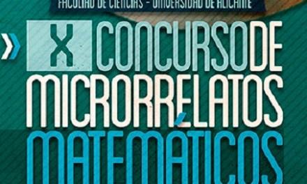La Facultat de Ciències de la Universitat d'Alacant convoca el X Concurs de Microrelats Matemàtics amb el nombre e