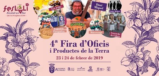 """La Feria de Oficios y Productos de la Tierra, clausurará la IV edició de """"Feslalí, Alcalalí en flor"""""""