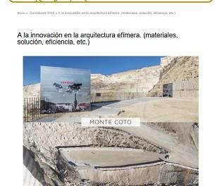El Mirador de las Canteras del Monte Coto consigue el Premio Emporia de Oro
