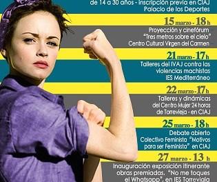 """La Concejalía de Juventud de Torrevieja organiza el """"MES DE LA MUJER JOVEN"""" con motivo del 8 de marzo"""
