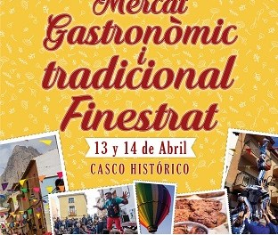 "Finestrat celebrará su ""Mercat Gastronòmic i Tradicional"" el fin de semana del 13 y 14 de abril"
