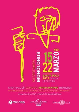 El 15 de març Santa Pola s'omple d'humor, música i entreteniment: torna el  Certamen Nacional de Monòlegs