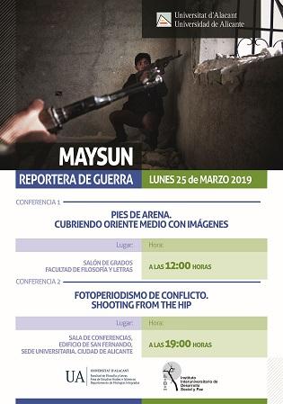 La reportera de guerra i fotoperiodista Maysun ofereix dilluns dues conferències en la Universitat d'Alacant