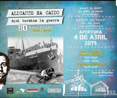 """Inauguración de la exposición """"Alicante ha caído.  Aquí termina la guerra"""" sobre la Guerra Civil"""