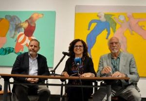 Javier Hergueta, María Dolores Padilla y Jaume Marzal en la rueda de prensa de presentación de la exposición