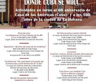 Exposiciones, conferencias y recitales de poesía en Torrevieja entre los actos conmemorativos por el 60º Aniversario de Casa de las Américas