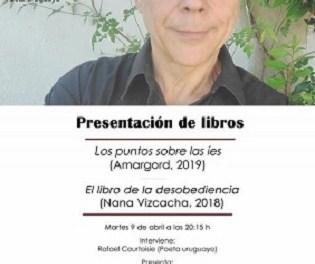 El CeMaB y el Consulado de Uruguay organizan un acto con el poeta Rafael Courtoisie en la Librería 80 Mundos