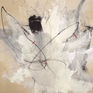 Perceval Graells. La fragilitat de la vida Tècnica mixta sobre tela 200 x 200 cm 2018