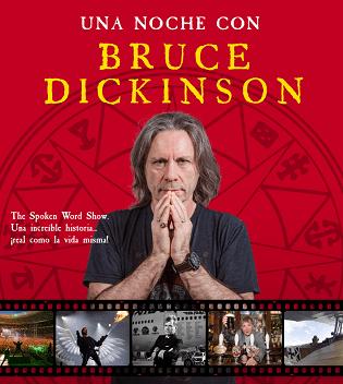 Una nit amb BRUCEDICKINSON, vocalista deIronMaiden, el dissabte 07 de desembre 2019