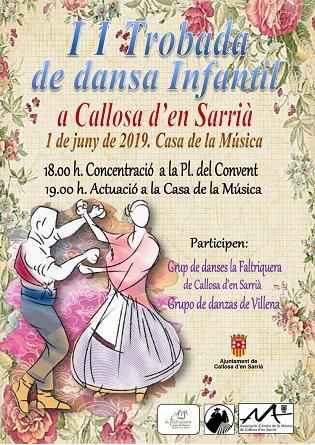 Callosa d'en Sarrià acull el pròxim 1 de juny la II Trobada de Dansa Infantil