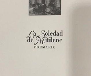 """La Librería CÓDEX de Orihuela acoge este viernes la presentación del poermario """"La soledad de Mitilene"""" de Josep Giménez Rodríguez"""