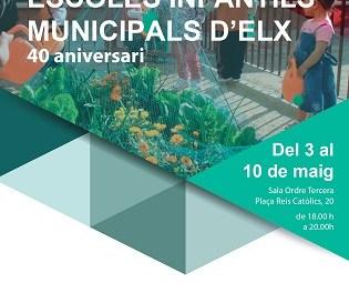 Les Escoles Infantils Municipals celebren les seues quatre dècades d'existència amb una exposició fotogràfica i una festa per a tota la família