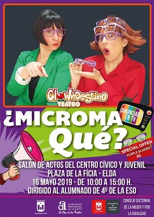 Los estudiantes de Elda reflexionarán sobre la discriminación hacia las mujeres a través de la obra de teatro '¿Micromaqué?'