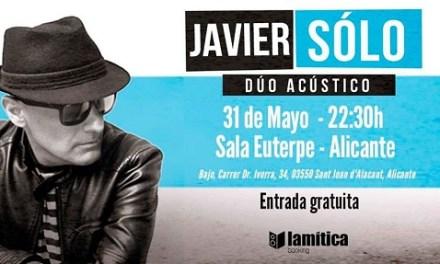 Javier Solo en la Sala Euterpe de Sant Joan este viernes