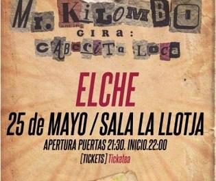 Mr. Kilombo en concierto en La Llotja de Elche con su gira Cabecita Loca