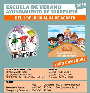 Obert el termini d'inscripció per a les escoles d'estiu de Torrevella