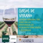L'Alfàs participa en unos cursos de verano de la UNED sobre la importancia del sector del vino en Alicante