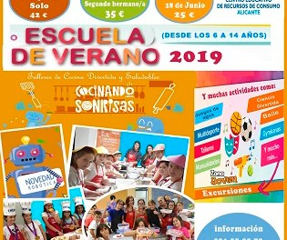 L'Ajuntament d'Alacant obri la inscripció per a participar en l'Escola d'Estiu 'Cocinando Sonrisas'