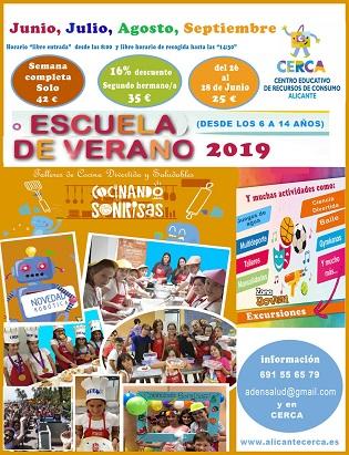 El Ayuntamiento de Alicante abre la inscripción para participar en la Escuela de Verano 'Cocinando sonrisas'