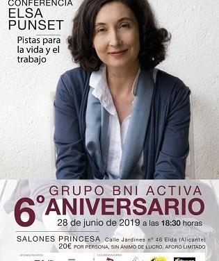 La prestigiosa escritora y filósofa Elsa Punset ofrecerá una conferencia sobre la vida y el trabajo en los Salones Princesa de Elda