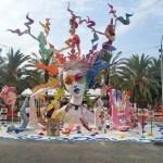 """Baver-Els Antigons consigue el premio a la Hoguera más accesible con su monumento """"Equilibri Cromatic' del artista Francisco Torra Josa"""