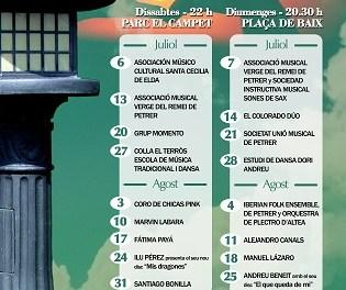 18 conciertos amenizarán los fines de semana de julio y agosto en Petrer