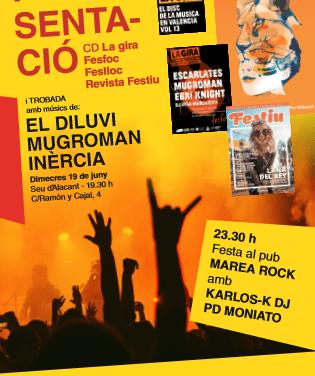 La Universidad de Alicante promociona la música en valenciano con la presentación del cd de «La gira», el concierto Fesfoc de Hogueras y la revista de festivales de verano «Festiu»