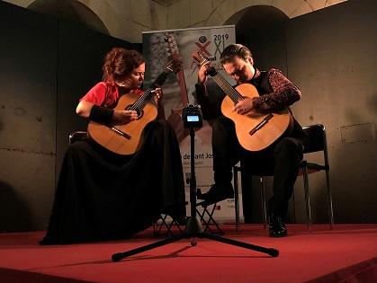"""La complicidad del dúo Kitharsis cierra la XXI edición del  Festival de Guitarra """"Ciutat d'Elx"""""""