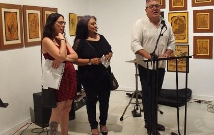 """Exposició """"Cinema en pintura"""" com a homenatge a Javier Santana en la Kakv de Villena"""
