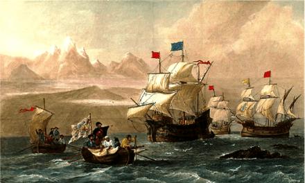 El almirante Juan Rodríguez Garat diserta en Benidorm sobre la primera vuelta al mundo de Magallanes y Elcano