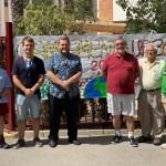 El campamento urbano de la Fundación Ángel Tomás en Elche recibe la visita del concejal Mariano Valera