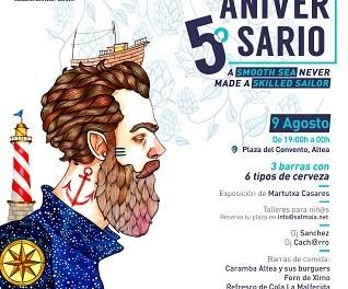 La cerveza alteana Althaia celebra su V Aniversario con una fiesta abierta al público en Altea