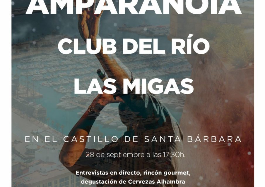 """Amparanoia, Las Migas y Club del Río en """"Momentos Alhambra"""" en el  Castillo de Santa Bárbara"""