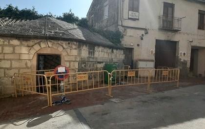 Obra de recuperación del refugio antiaéreo del Palau Comtal en Cocentaina