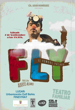 """Finestrat porta la """"Cultura a la Fresca"""" a les urbanitzacions amb l'obra de teatre """"Fly. L'Home Ocell"""" que es representarà en Golf Badia"""