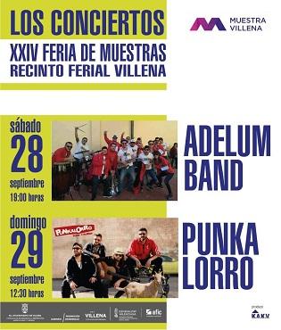 Concerts de Adelum i Punkalorro aquest cap de setmana en la Mostra Villena 2019
