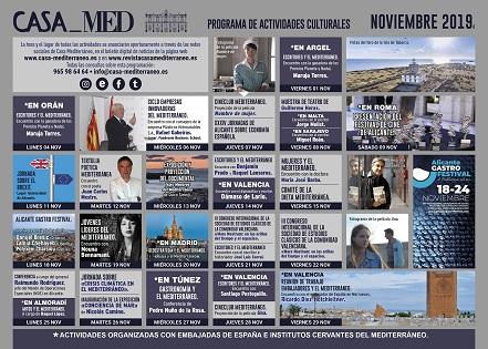 La crisi climàtica i els paisatges illencs del Mare Nostrum ingredients de la programació de novembre a Casa Mediterráneo