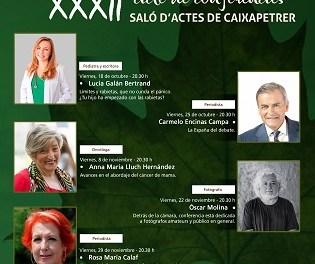 La prestigiosa pediatra Lucía Galà i la periodista Rosa María Calaf entre les conferenciants de la XXXII Tardor Cultural de Petrer