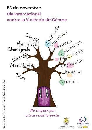 Entidades y asociaciones colaboran con el Ajuntament de Dénia en la organización del Día Internacional contra la violencia de género variada y participativa