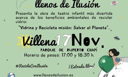 """Ecovidrio organiza en Villena el teatro al aire libre """"Llenos de ilusión"""""""