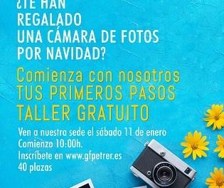 """Taller gratuït sobre """"Els teus primers passos en la fotografia"""" organitzat pel Grup Fotogràfic de Petrer"""