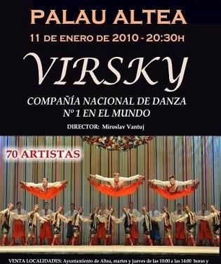 Virsky National Ensemble d'Ucraïna al Palau d'Altea aquest dissabte